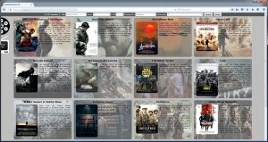 KodiWebPortal movies displayed