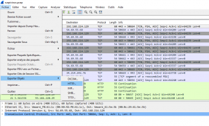 Wireshark extract HTTP objets
