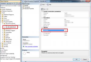 Objet chiffré dans MSSQL2012 visible via SSMS