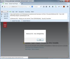 RXSS dans un sous-domaine d'adobe.com