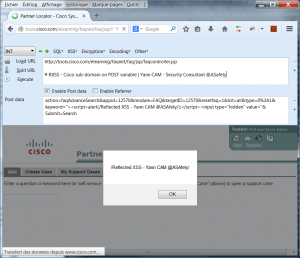 RXSS tools.cisco.com n°3