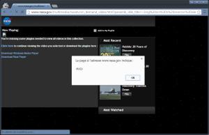 NASA.gov DOM-RXSS alert Chrome