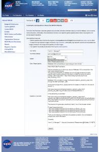 NASA.gov notification email