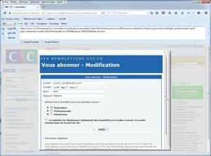 Formulaire de désinscription et données GET
