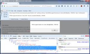RXSS alert() sur le support.fortinet.com