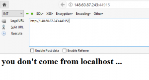 Error not from localhost