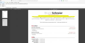 PDF du CV généré pour ls /