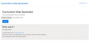Téléchargement du template YAML et upload