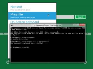 Escalade de privilège avec Magnify sous Windows 8