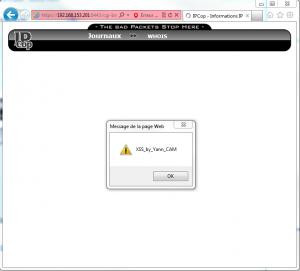 XSS IPCop Internet Explorer fonctionnelle
