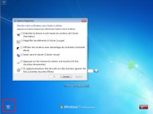 Outils d'accessibilité sous Windows 7