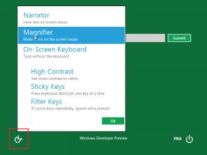 Outils d'accessibilité sous Windows 8