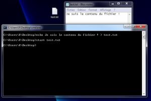 Création d'un simple fichier texte