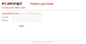 Fortinet login center
