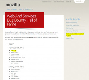 Mozilla Hall of Fame
