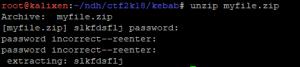 Unzip password