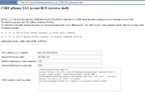 Le générateur de CSRF pour pfSense 2.0.1