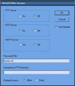 Configuration serveur RCP