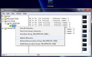 Modification de cmd.exe et localisation des icônes