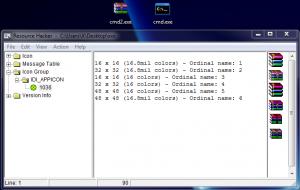 Nouveau programme cmd2.exe avec l'icône de WniRAR