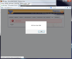 XSS persistante pppsetup.cgi