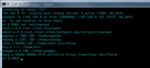 Reverse-shell sur ZeroShell